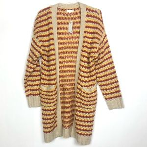 NWT Coco + Jameson Long Open Cardigan Size L